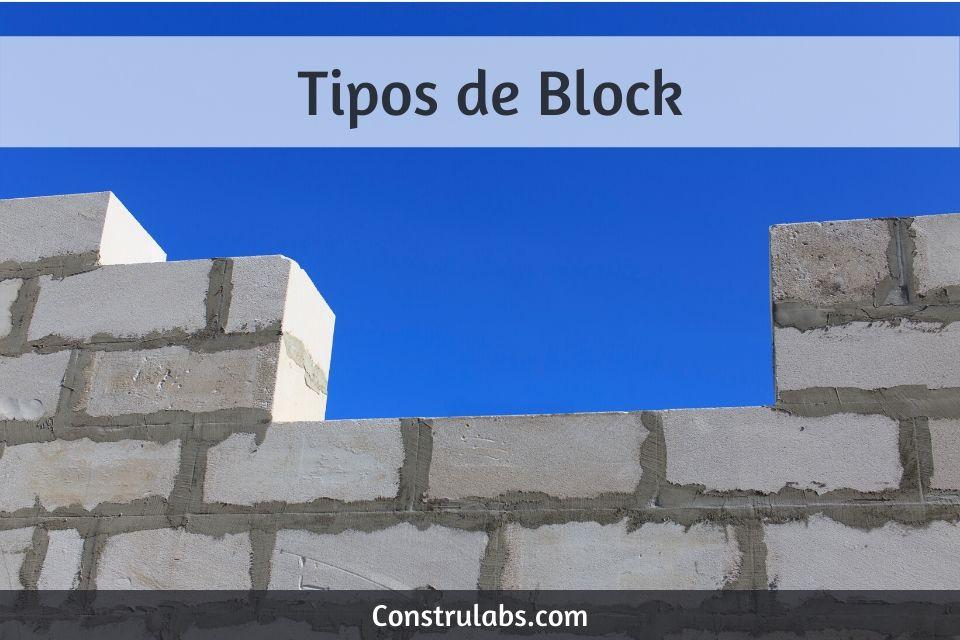 Tipos de block para construccion